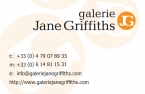 Galerie Jane Griffiths Business Card Orange