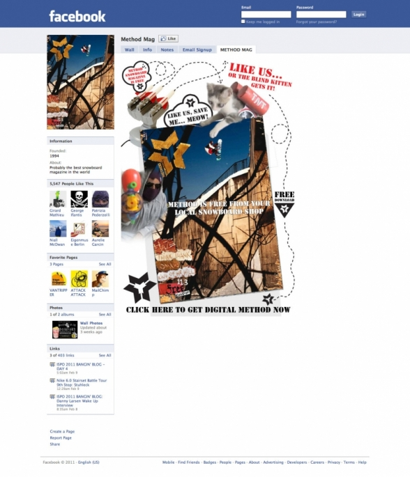 Method Magazine Facebook Landing Page