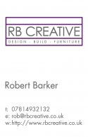 RB Creative business card
