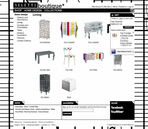 Seletti Boutique Web Site