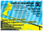 Switch Slope Style Session Flyer Back